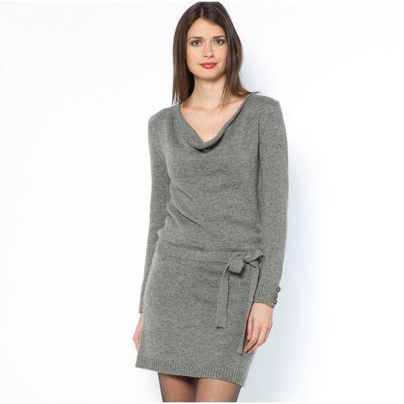 Robe en laine femme robe pull longue   Poitiers assurances 1c3c15500865